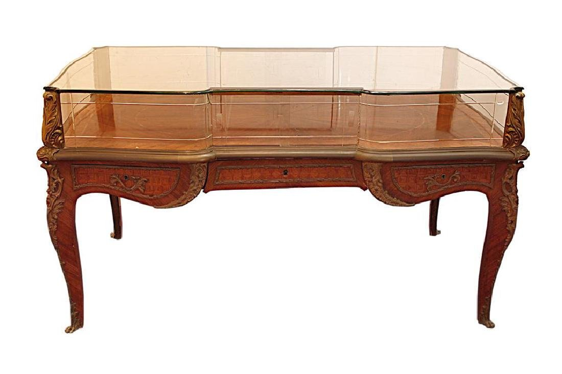 19TH C. FRENCH DISPLAY CABINET TABLE