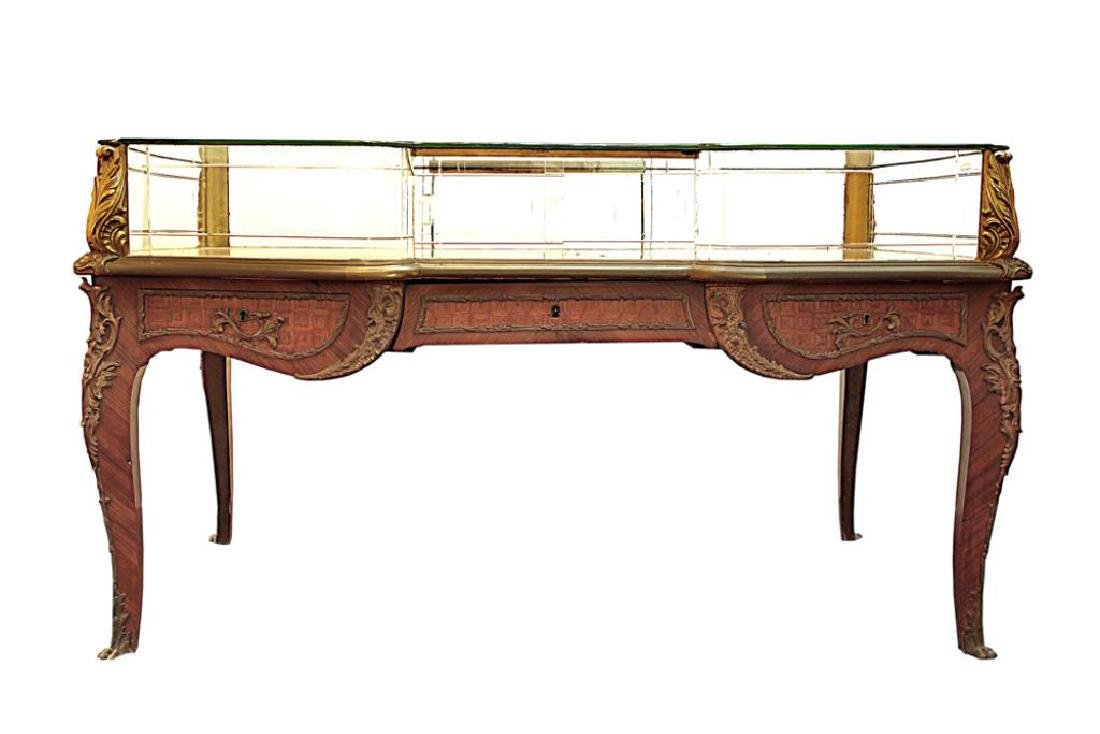 19TH C. FRENCH DISPLAY CABINET TABLE - 2