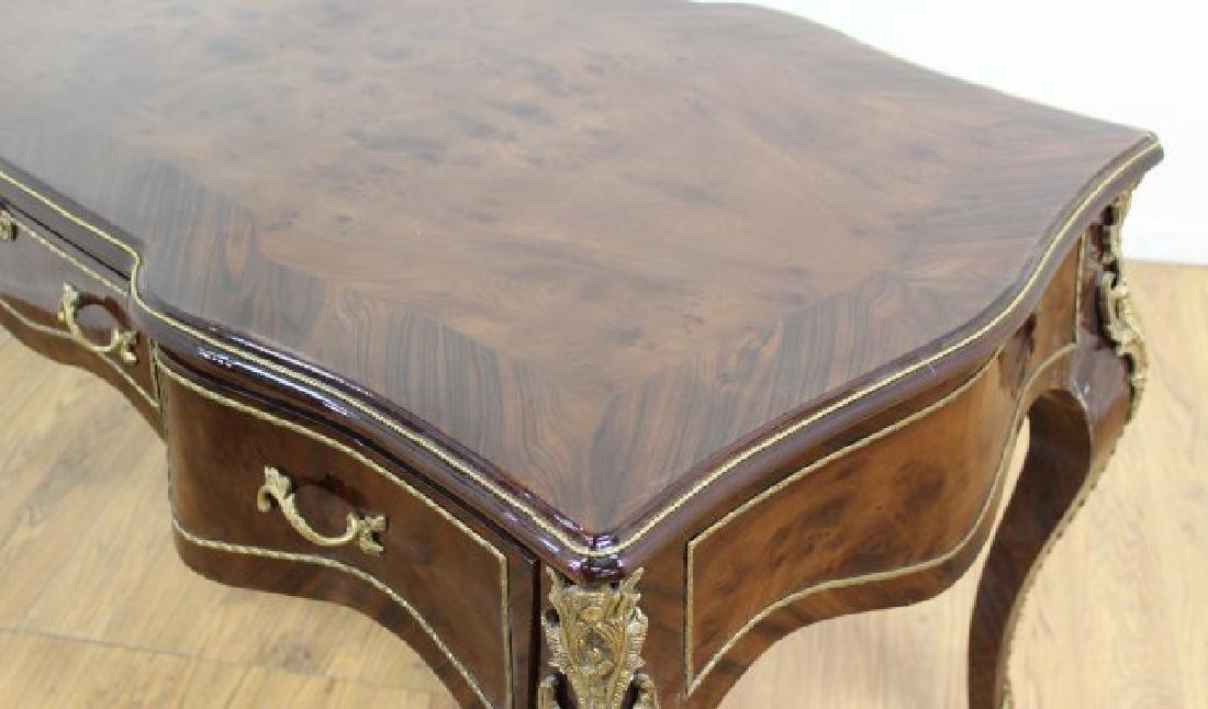 Louis XV Style 3-Drawer Executive Desk - 3
