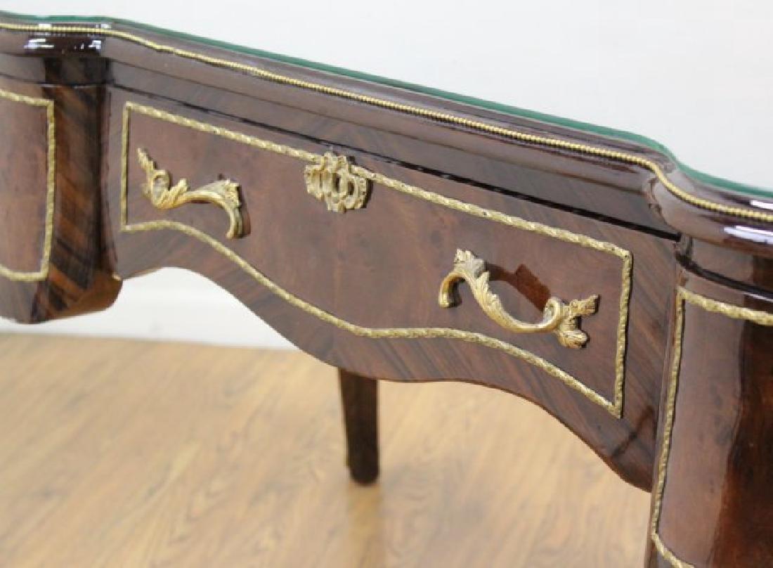 Louis XV Style 3-Drawer Executive Desk - 4