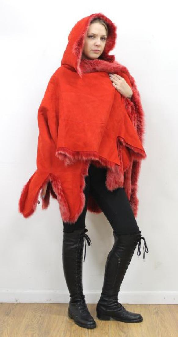 Gorgeous Red Reversible Fur Wrap Pelt - 2