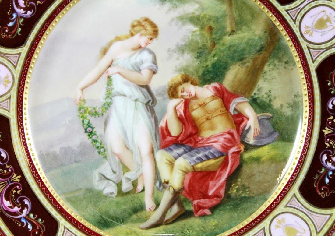 LATE 19TH C. ROYAL VIENNA CABINET PLATE - 2