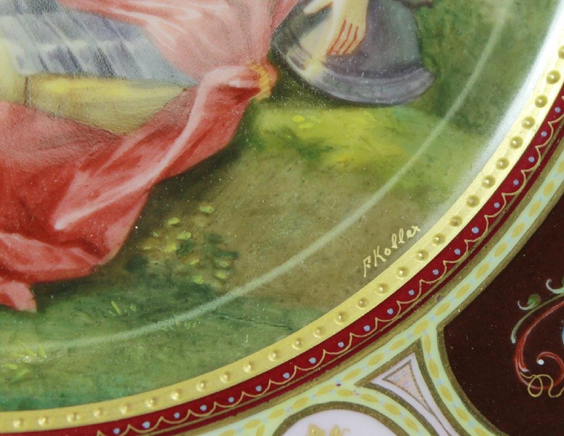 LATE 19TH C. ROYAL VIENNA CABINET PLATE - 3