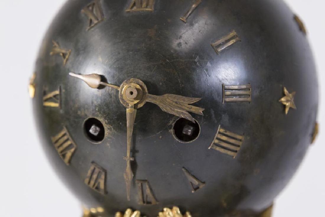 19th Century 3 Piece Bronze & Marble Clock Set - 5