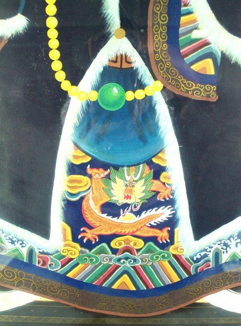 FRAMED CHINESE ANCESTOR PRINT - 4