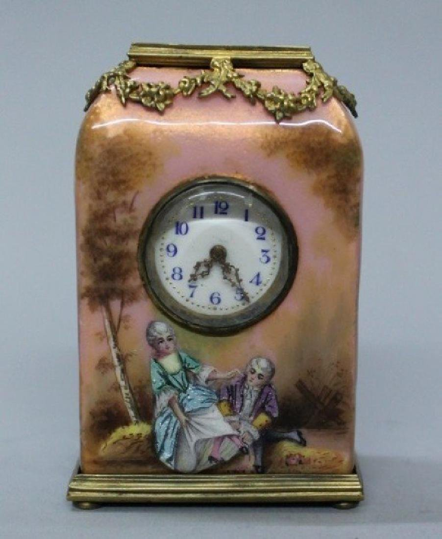 MAGNIFICENT VIENNESE ENAMEL AND PORCELAIN MINIATURE - 3