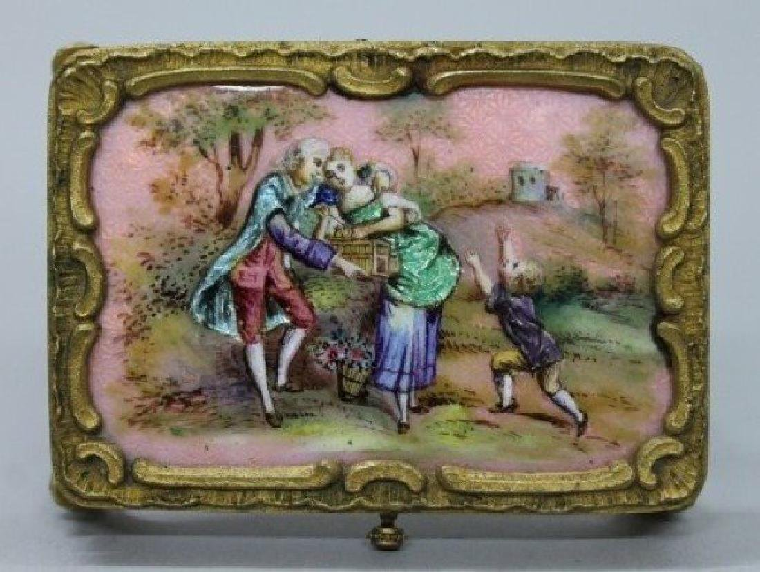 MAGNIFICENT VIENNESE ENAMEL AND PORCELAIN MINIATURE - 4