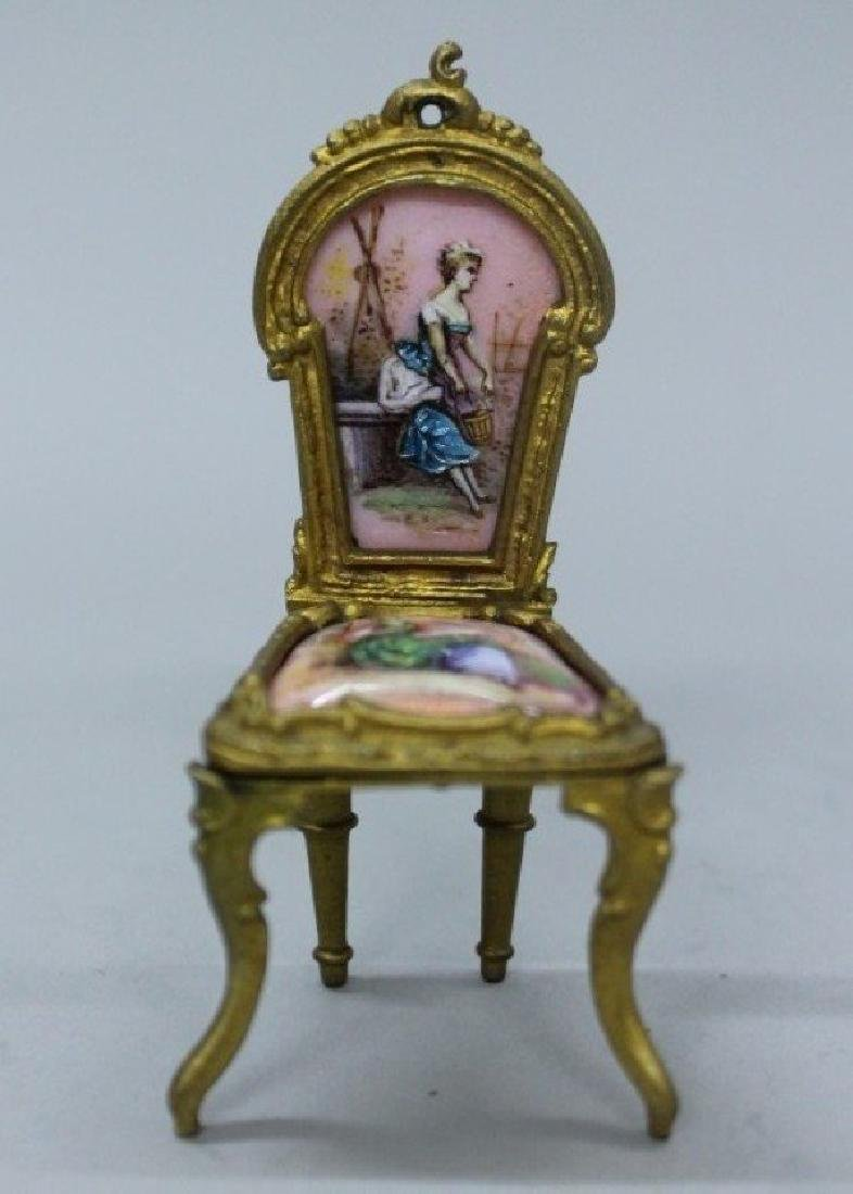 MAGNIFICENT VIENNESE ENAMEL AND PORCELAIN MINIATURE - 5