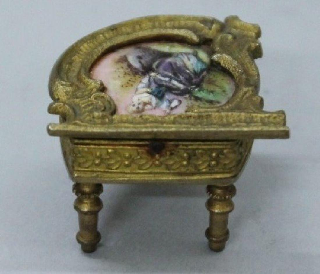 MAGNIFICENT VIENNESE ENAMEL AND PORCELAIN MINIATURE - 6