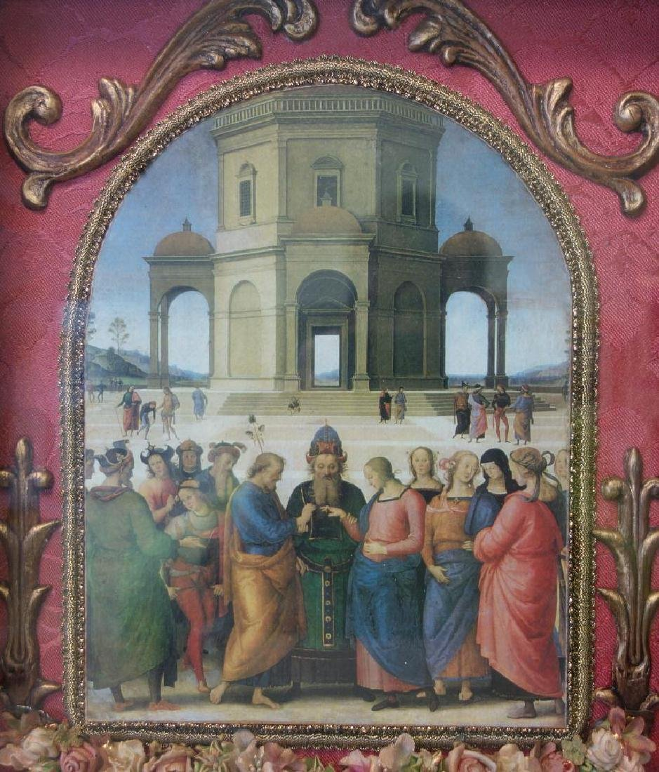 Framed print depicting the oil on wood painting by - 2