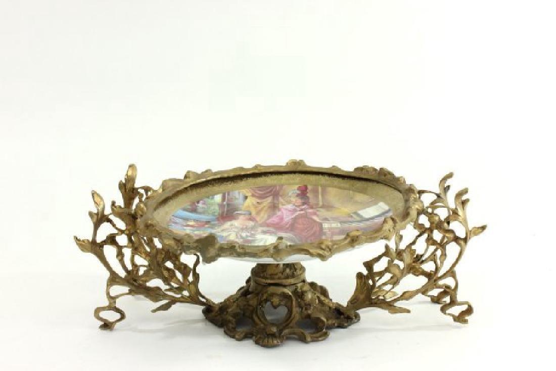Svres Style & Bronze Centerpiece