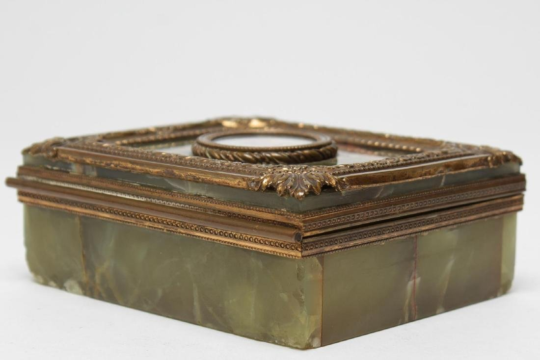 French Onyx & Ormolu Box with Miniature Portrait - 2