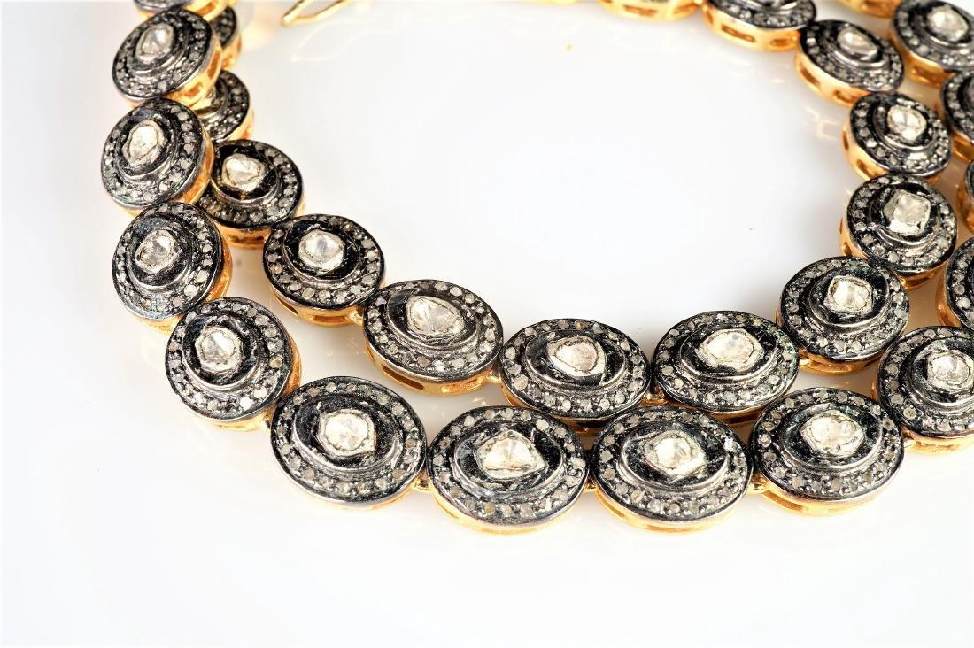 Rose Cut Diamond Necklace - 2