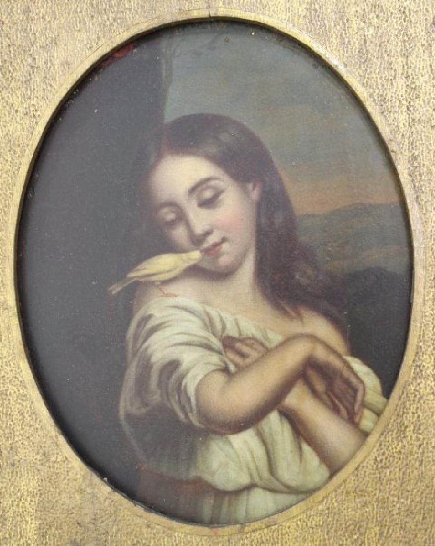 Late 19th C. Framed Oil on Tin Framed - 2