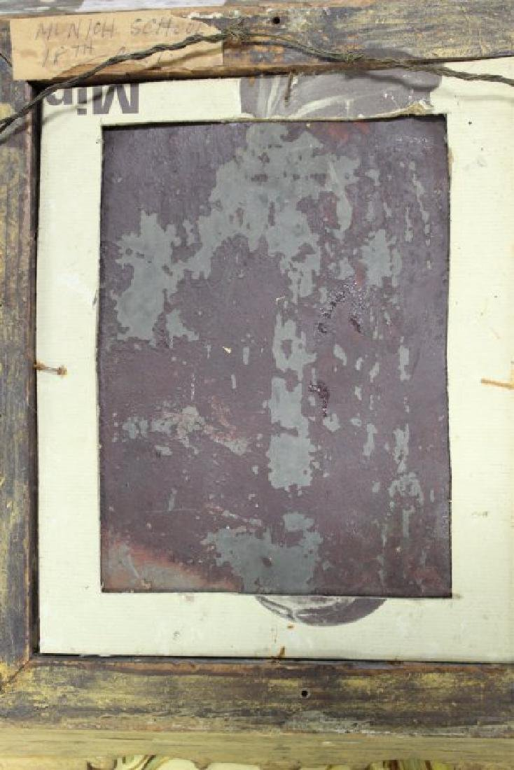 Late 19th C. Framed Oil on Tin Framed - 3