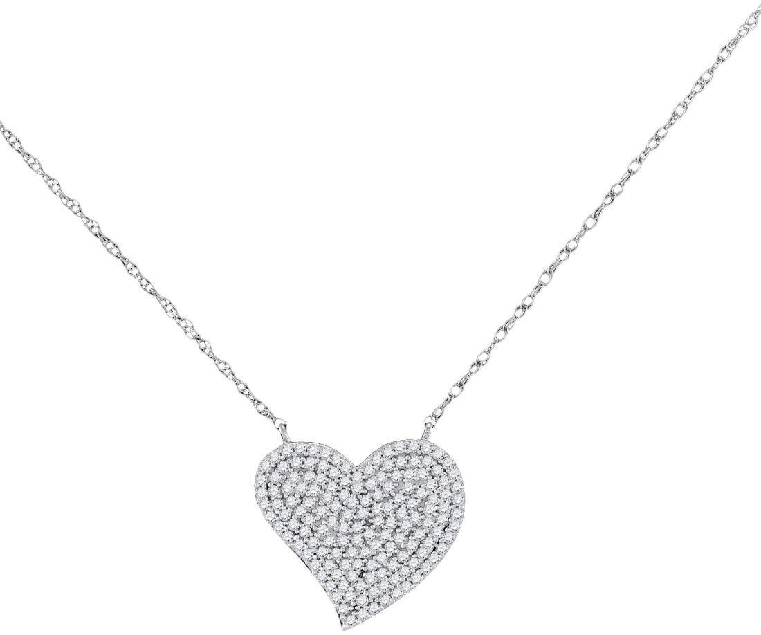 0.35 CTW Diamond Heart Pendant 10KT White Gold