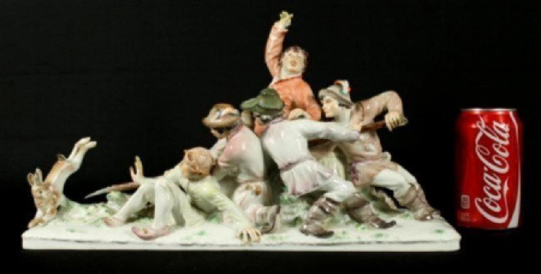 Large Meissen grouping by Alexander Struck