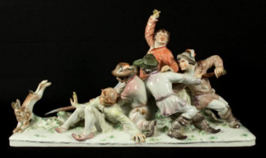 Large Meissen grouping by Alexander Struck - 2