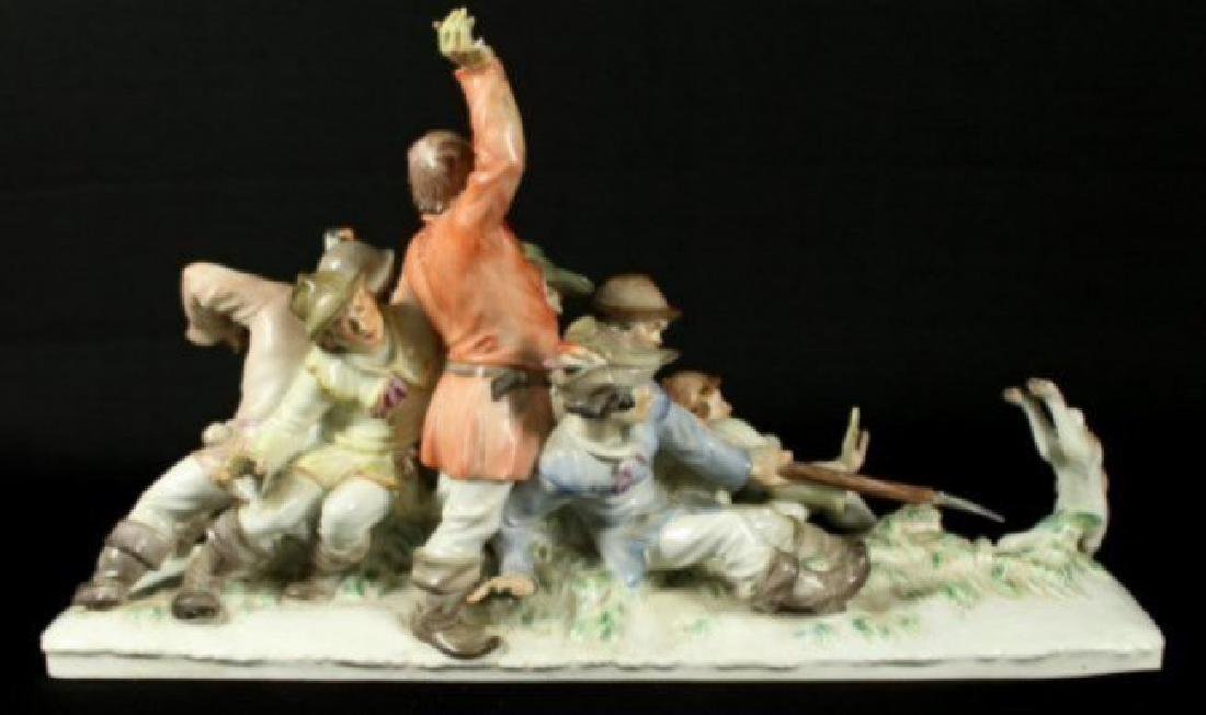 Large Meissen grouping by Alexander Struck - 6
