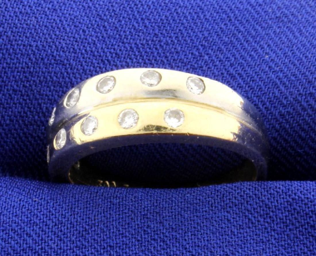 White & Yellow Gold Diamond Ring - 2