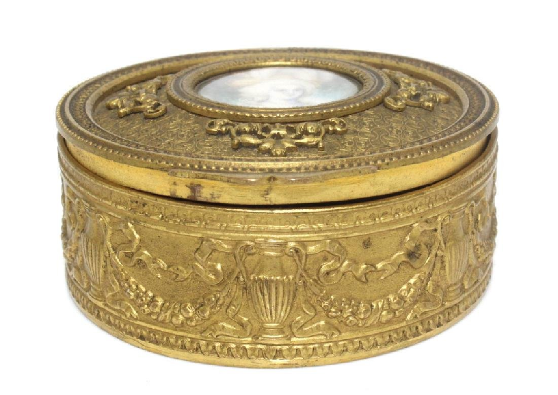 Antique Bronze Box with Miniature - 2