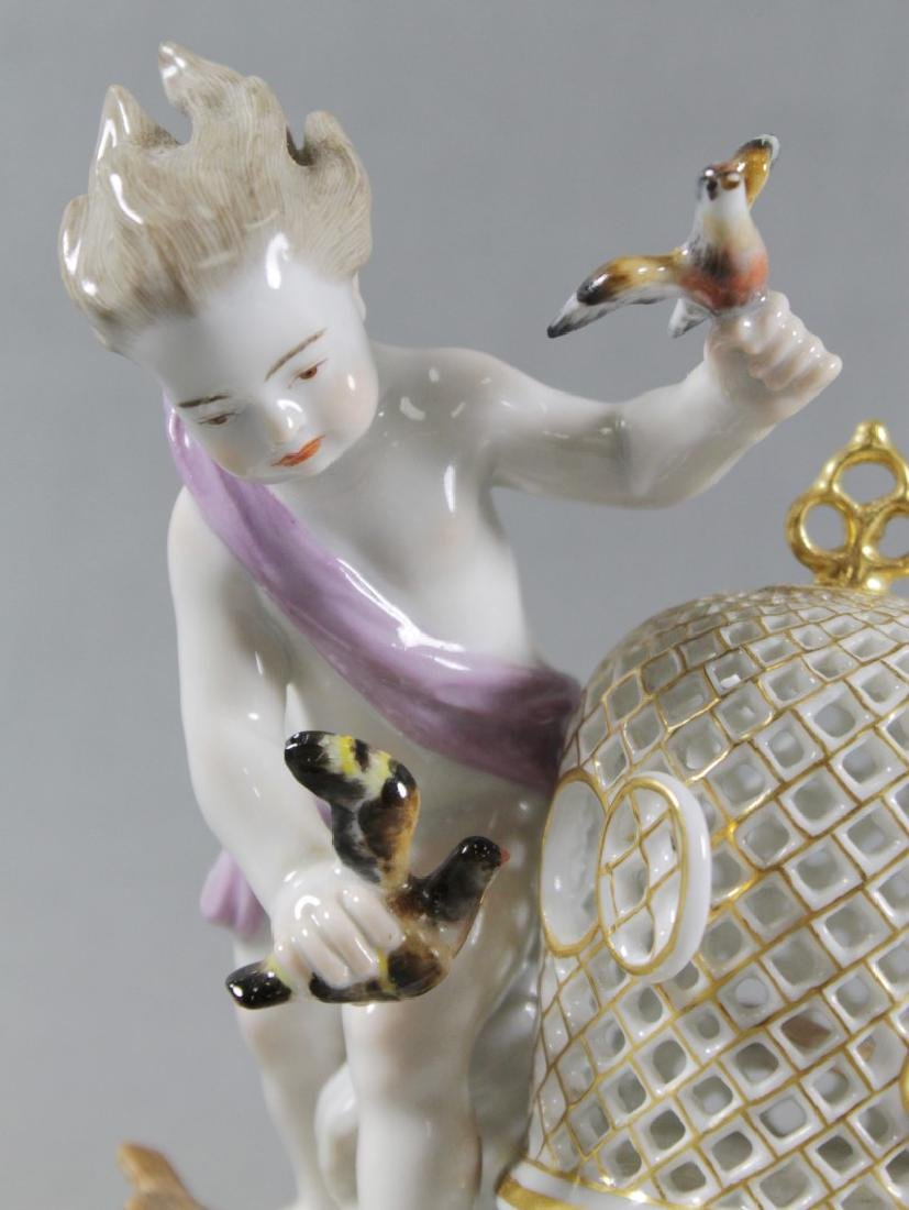 19TH C. MEISSEN FIGURE OF BIRDCAGE - 2