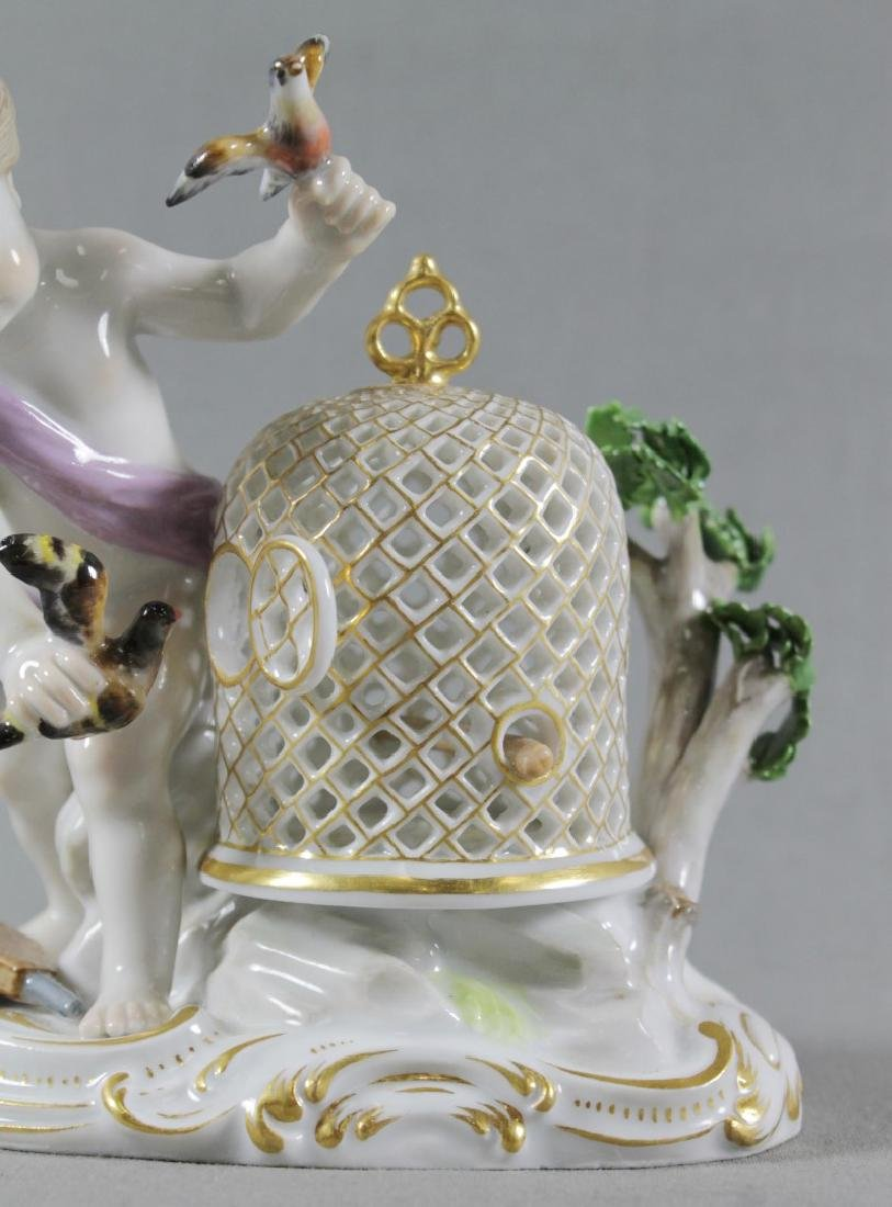 19TH C. MEISSEN FIGURE OF BIRDCAGE - 3