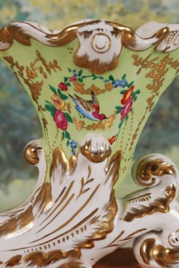 Pair of French 20th C. Cornucopia Vases - 2