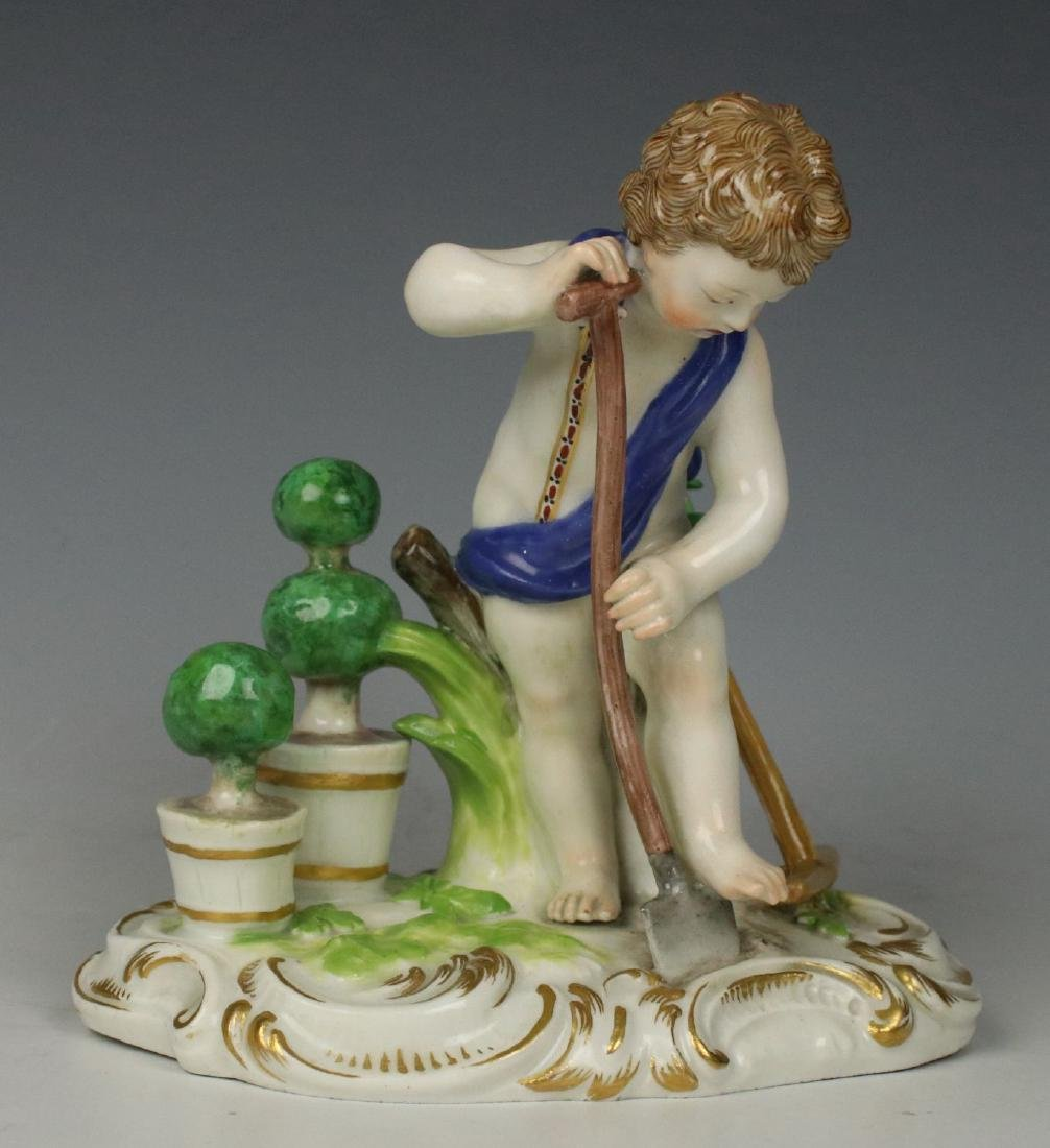 "19TH C. MEISSEN FIGURE ""EARTH"""