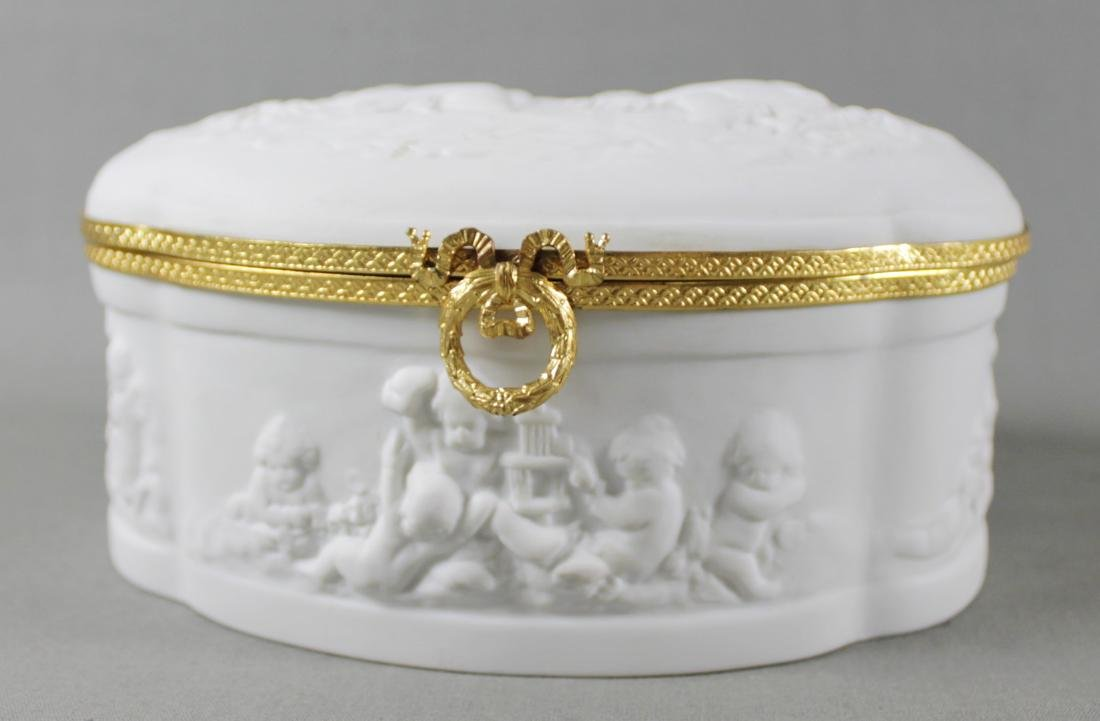 LIMOGES IMPRINTED CHERUB BOX