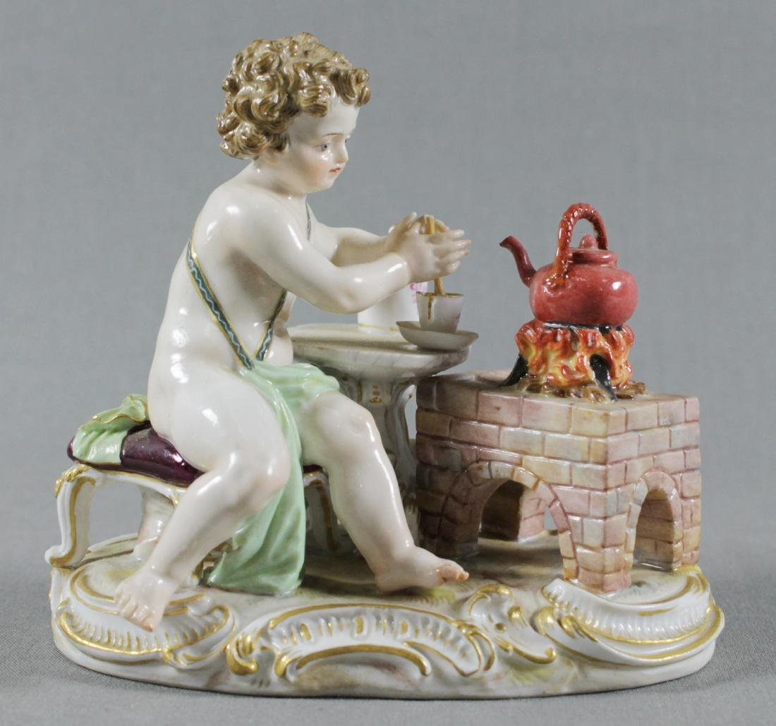 19TH C. MEISSEN FIGURE OF TEAMAKER