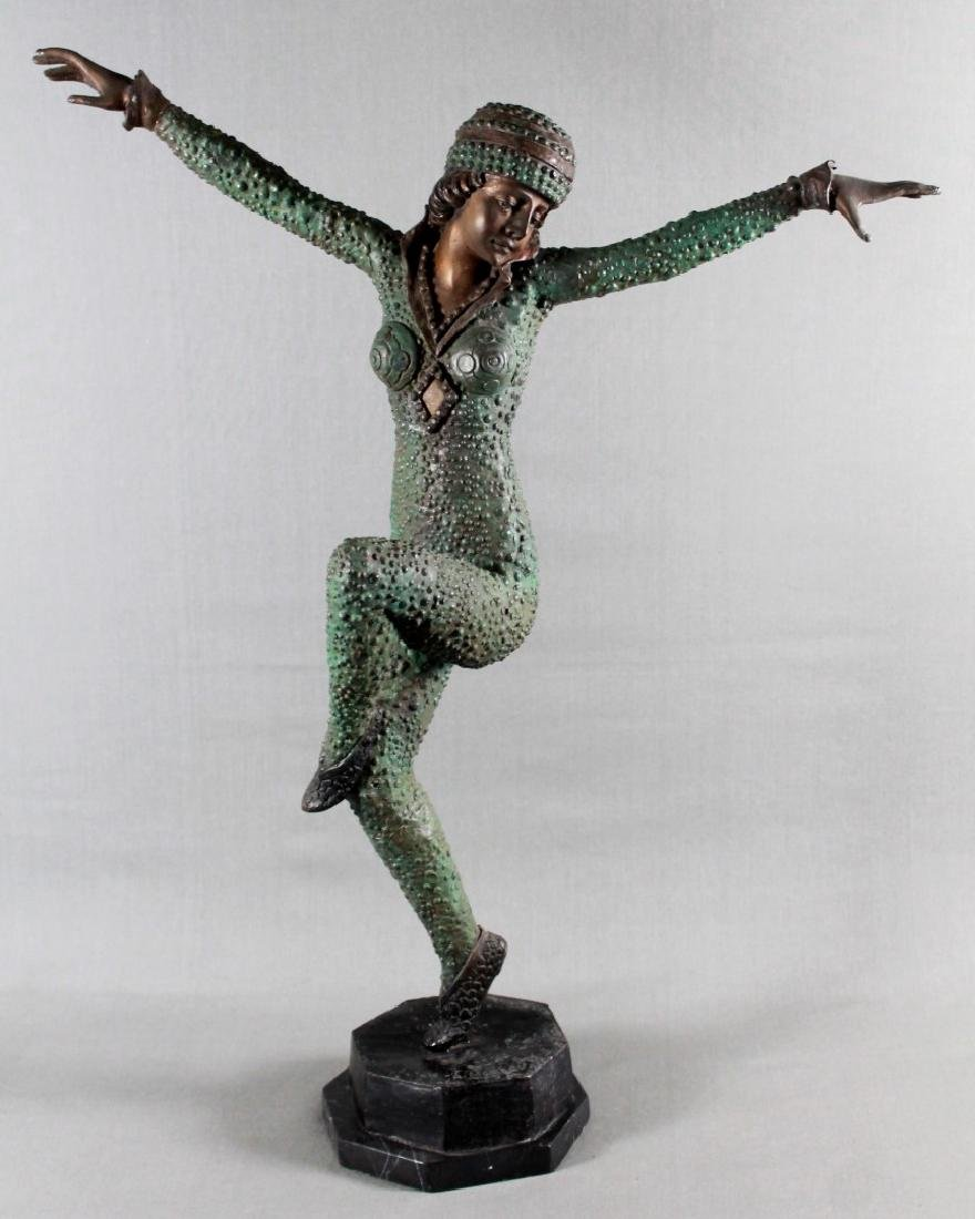 BORNZE FIGIRE OF DANCER SIGNED A. MOREAU