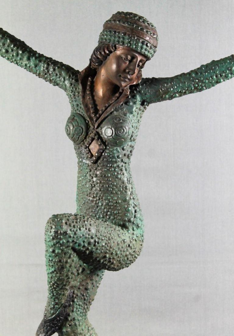 BORNZE FIGIRE OF DANCER SIGNED A. MOREAU - 2