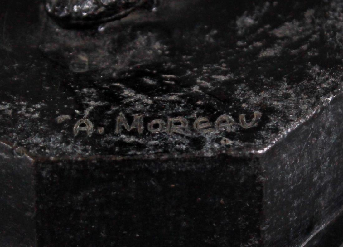 BORNZE FIGIRE OF DANCER SIGNED A. MOREAU - 4
