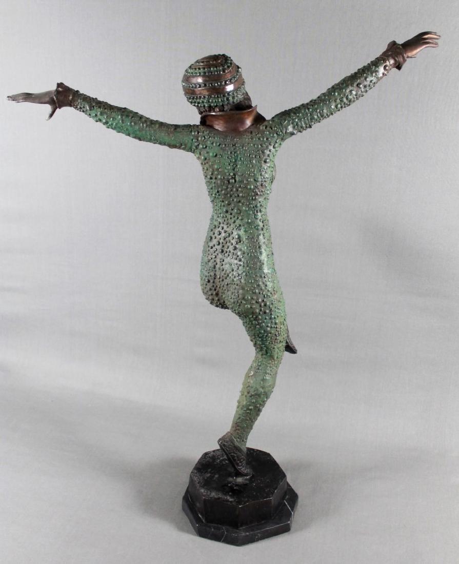 BORNZE FIGIRE OF DANCER SIGNED A. MOREAU - 5