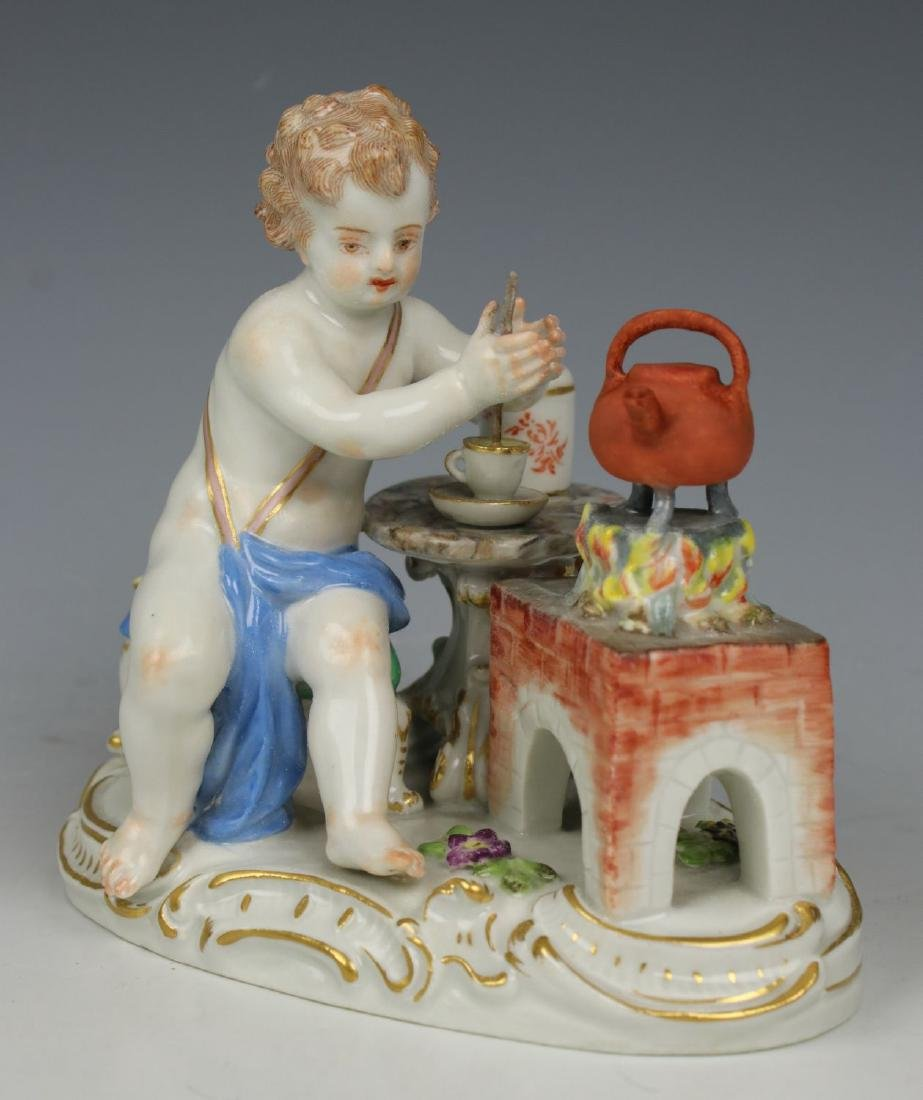 19TH C. MEISSEN FIGURE OF TEAMAKER - 2