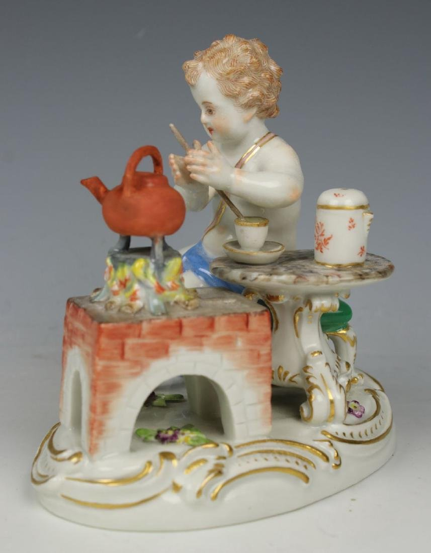 19TH C. MEISSEN FIGURE OF TEAMAKER - 3