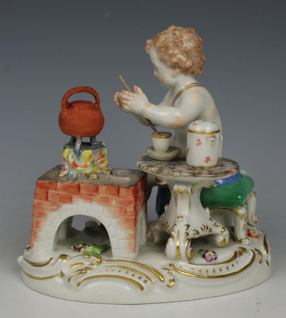 19TH C. MEISSEN FIGURE OF TEAMAKER - 4
