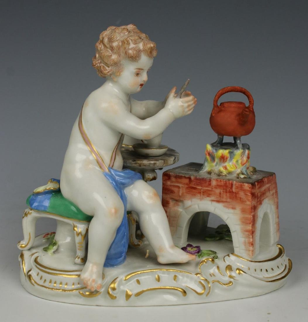 19TH C. MEISSEN FIGURE OF TEAMAKER - 5