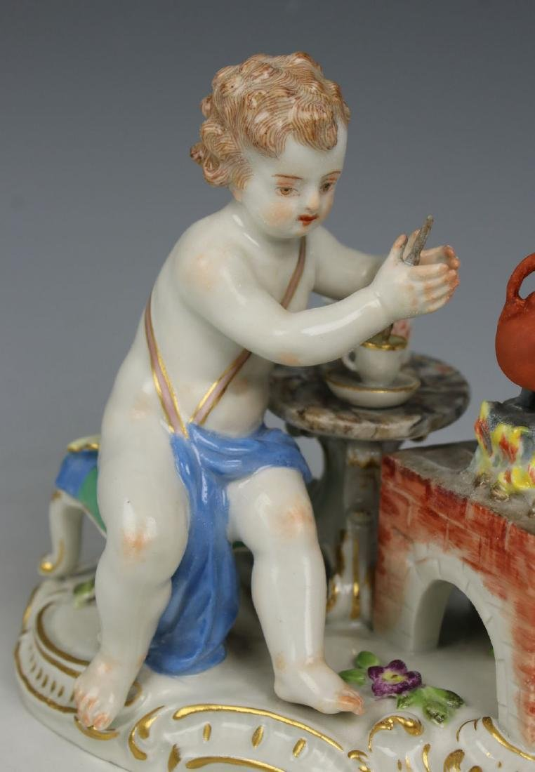 19TH C. MEISSEN FIGURE OF TEAMAKER - 6