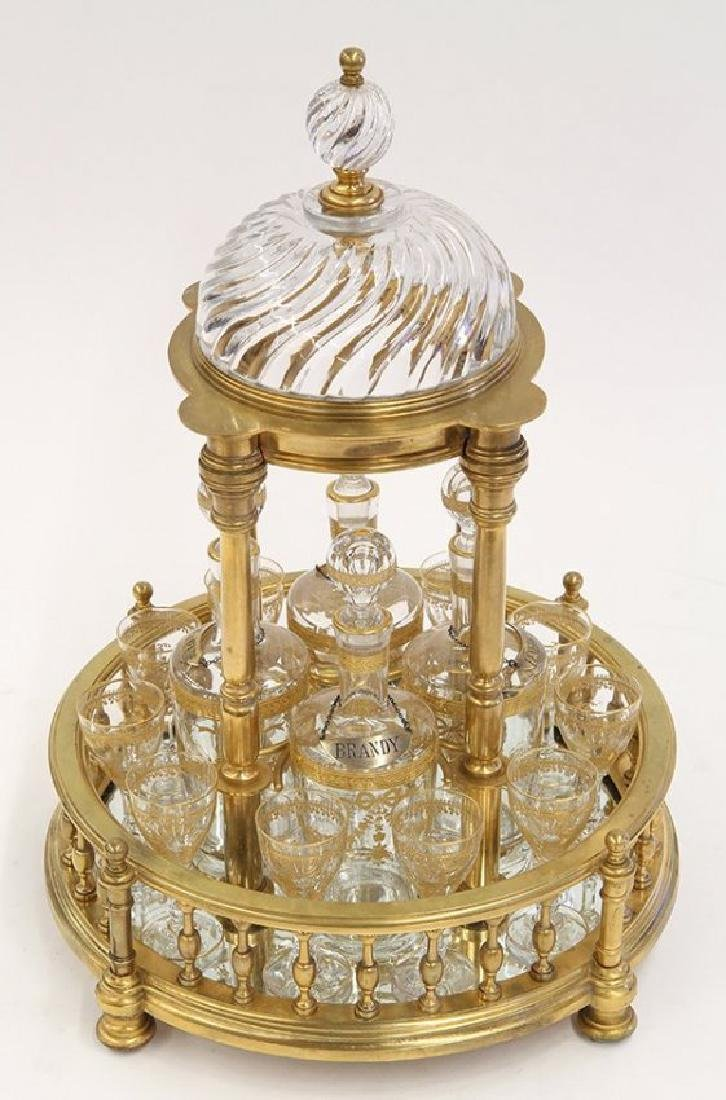 Baccarat France temple form Tantalus, circa 1900 - 2