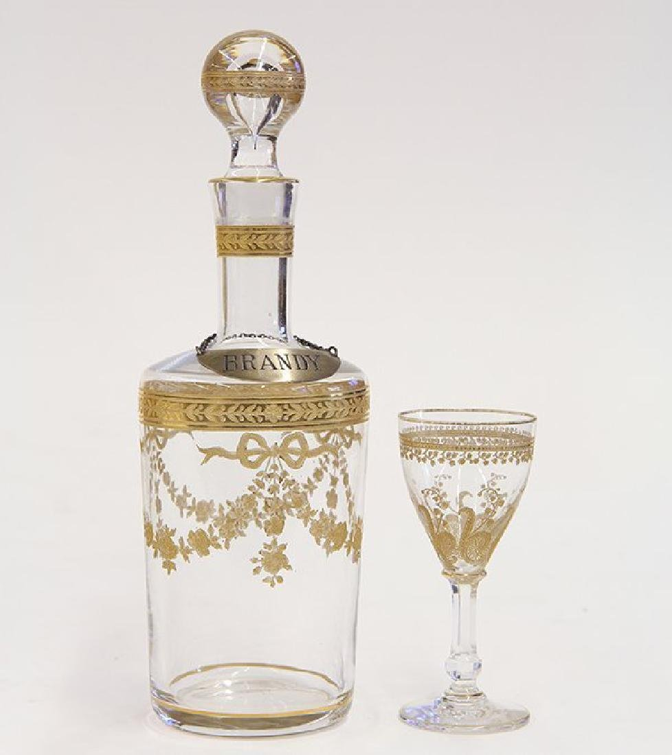 Baccarat France temple form Tantalus, circa 1900 - 3