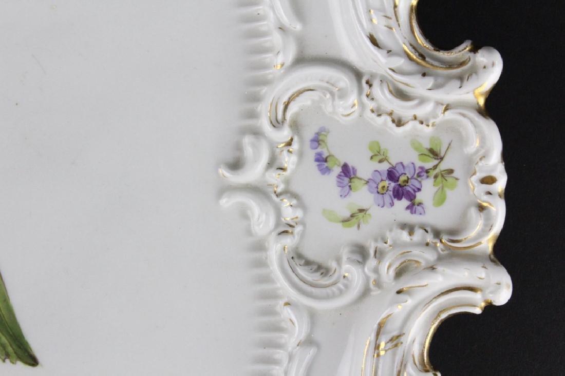 19th C..Meissen German Floral Porcelain Serving Tray - 4