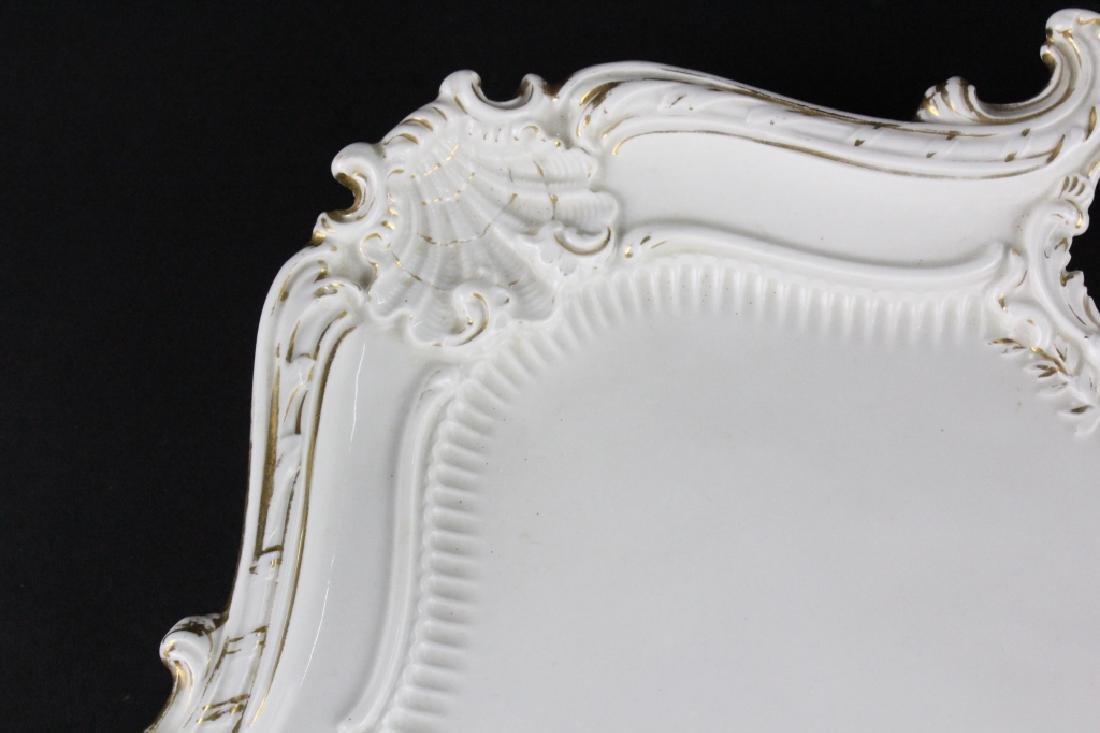19th C..Meissen German Floral Porcelain Serving Tray - 7