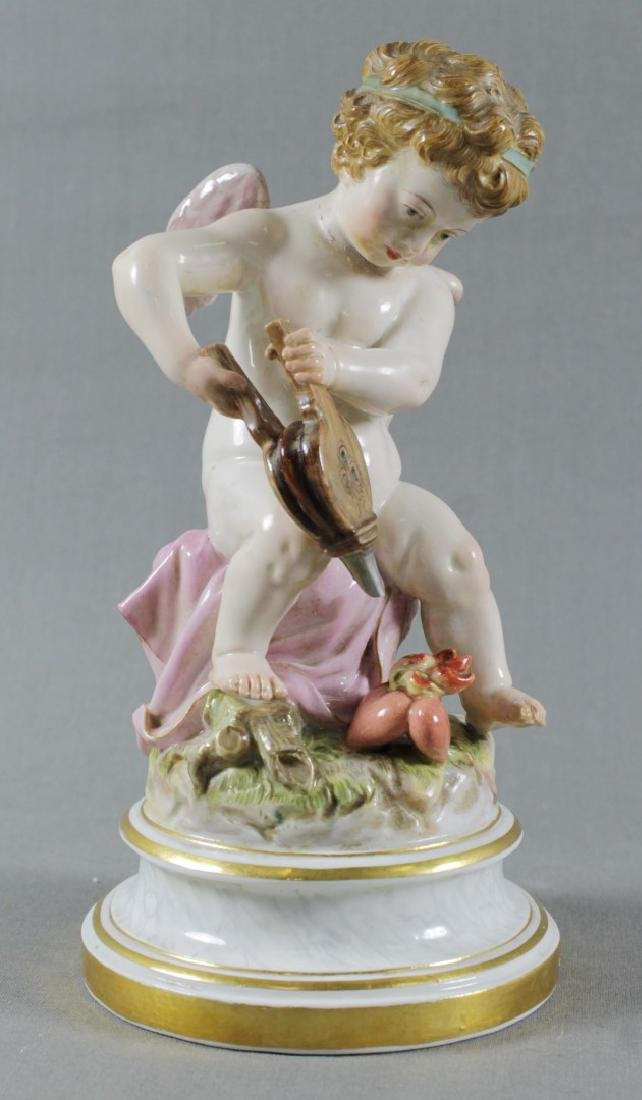 19TH C. MEISSEN FIGURE OF HEARTMAKER