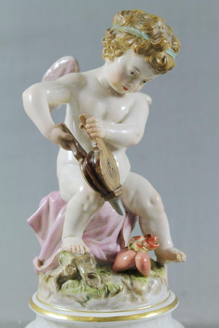 19TH C. MEISSEN FIGURE OF HEARTMAKER - 2