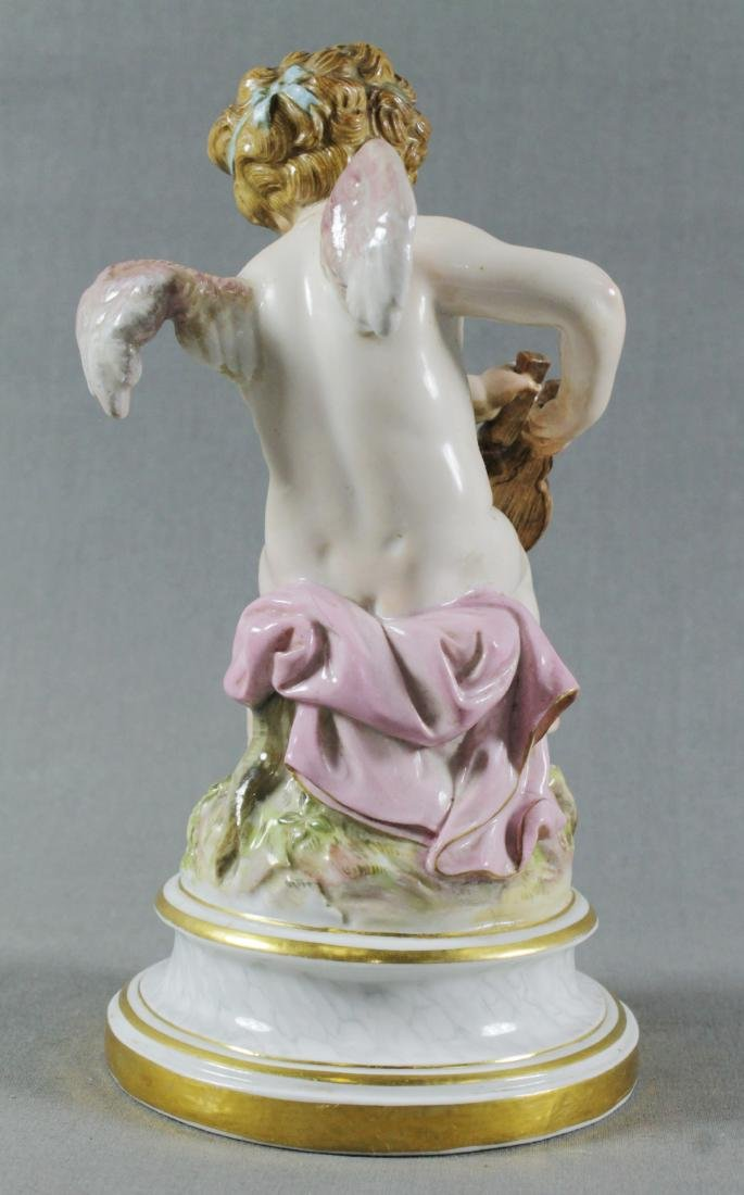 19TH C. MEISSEN FIGURE OF HEARTMAKER - 3