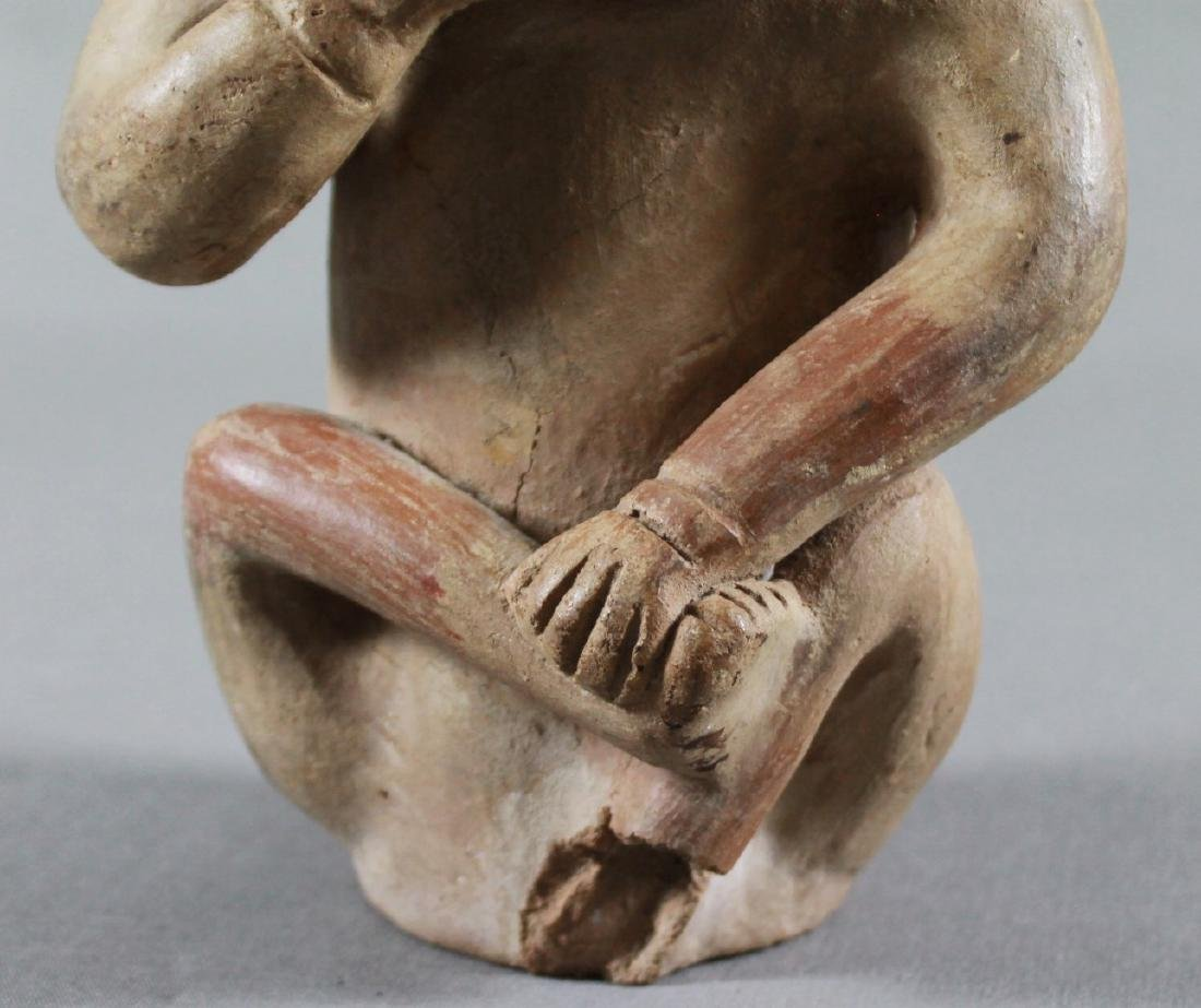 18TH C ANCIENT POTTERY FIGURE OF A MAN - 3