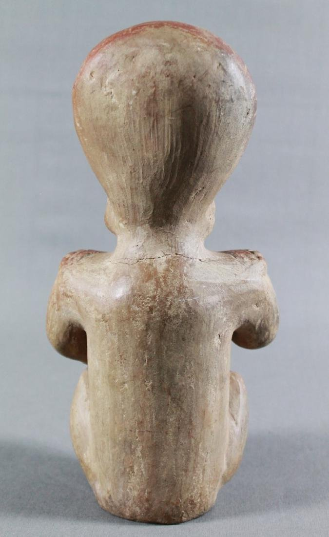 18TH C ANCIENT POTTERY FIGURE OF A MAN - 4