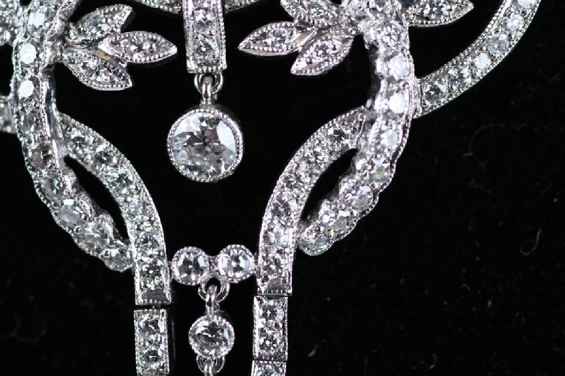 18 KARAT WHITE GOLD & DIAMOND NECKLACE - 2